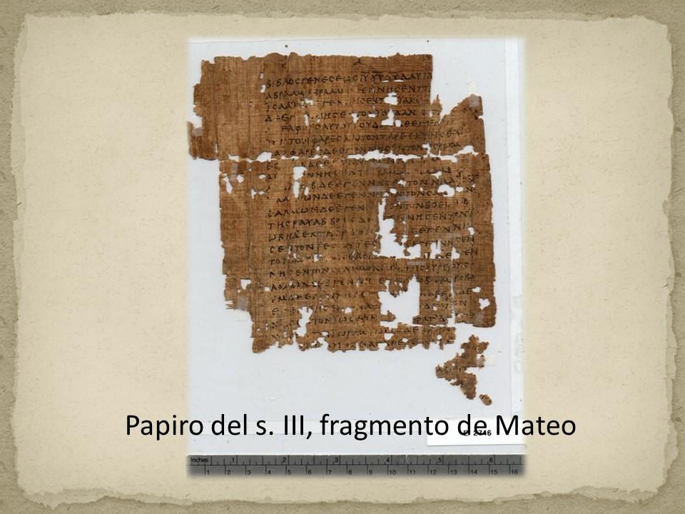 Papiro evangelio