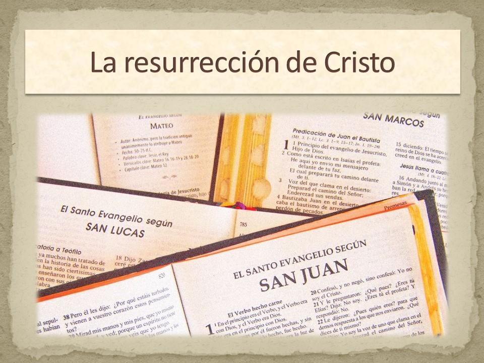 Resurrección evangelios